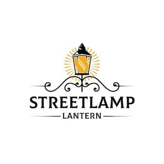 Straßenlaterne licht logo vorlage
