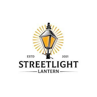 Straßenlaternen-logo-vorlage