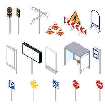 Straßenobjekte isometrische ansicht einstellen.