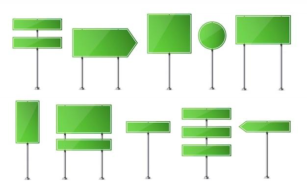 Straßenschild. autobahn verkehrsleerplatte.