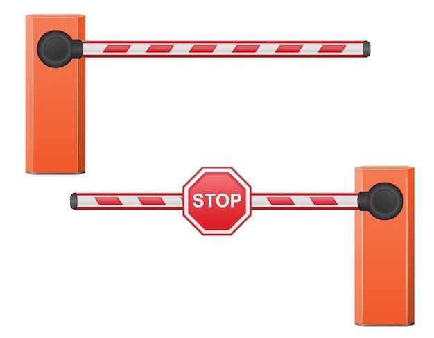 Straßensperre vektor-illustration
