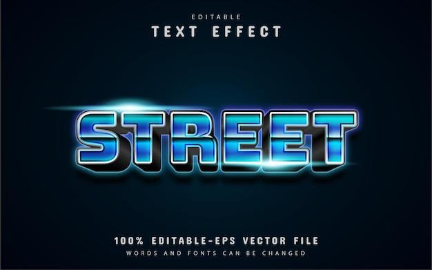Straßentext, texteffekt im 80er-jahre-stil Premium Vektoren