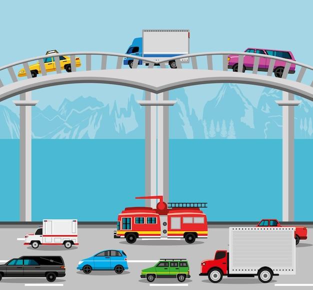 Straßenverkehr transport