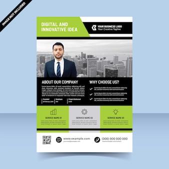 Strategie-builder-agent für business-grün-schwarz-flyer-vorlagendesign
