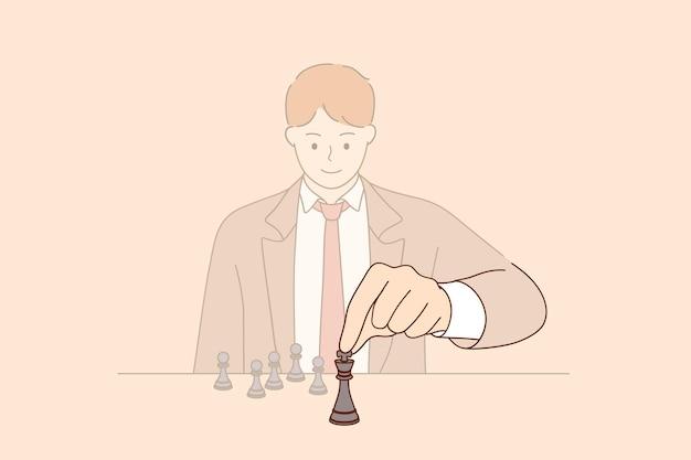 Strategie führungs- und managementkonzept
