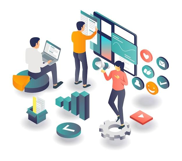 Strategie für digitales marketing und seo-optimierung