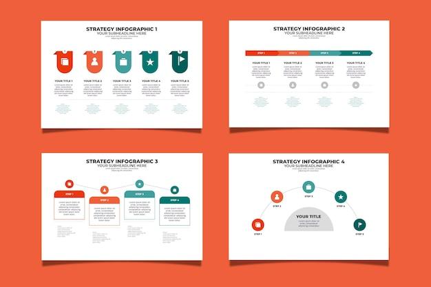 Strategie infografik vorlage