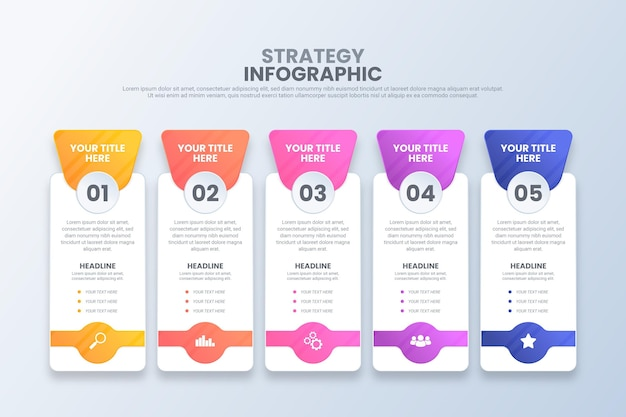 Strategie infografik