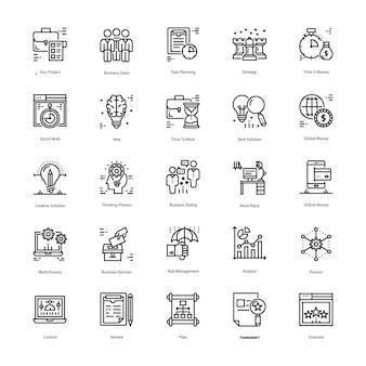 Strategie und management icons pack