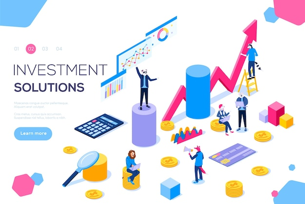 Strategie zur entwicklung der bankentwicklung. commerce-lösungen für investitionen, analyse.