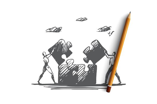 Strategieillustration in der hand gezeichnet