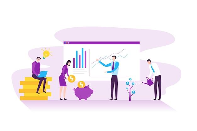 Strategisches geschäftsplanungs- und finanzmanagementkonzept