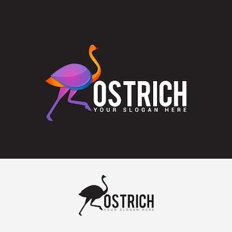 Strauß-logo-design-vektor-vorlage