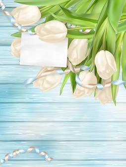 Strauß schöner tulpen.