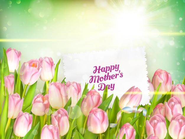 Strauß tulpen für muttertag