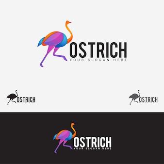 Strauß-vogel-logo