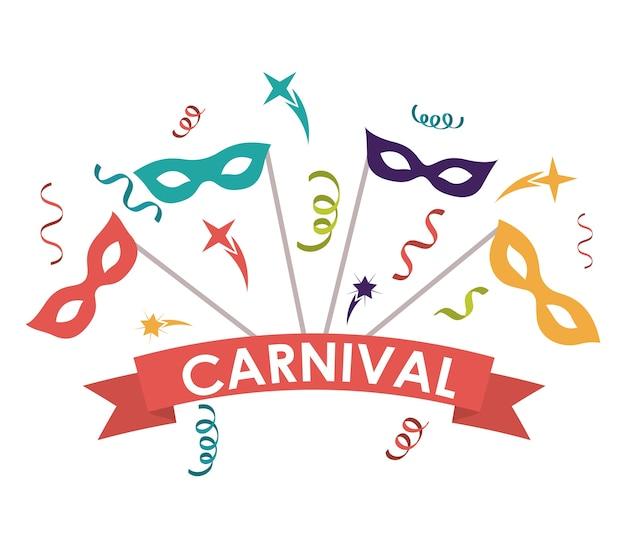 Streamer maske karneval festival