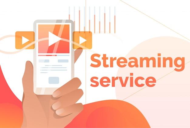 Streaming-service-plakat-vorlage