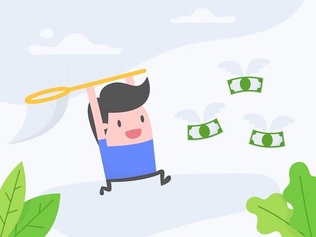 Streben nach geld.