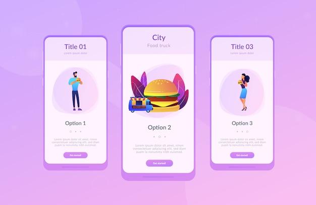Street food app schnittstellenvorlage.
