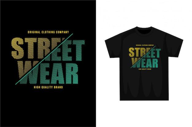 Street wear - grafisches t-shirt