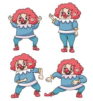 Streich clown april narren süßes maskottchen