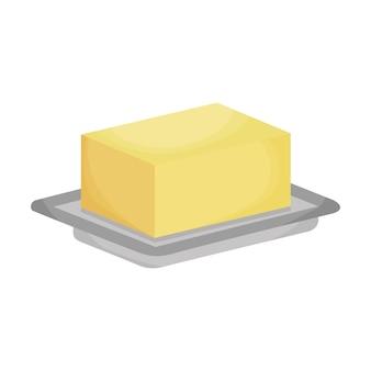 Streichfähige butter auf basis isoliert auf weißem hintergrund. vektor-illustration