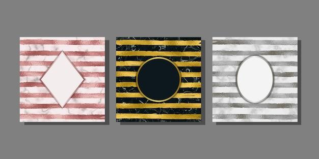 Streifen aus folie und marmorschablonen-set