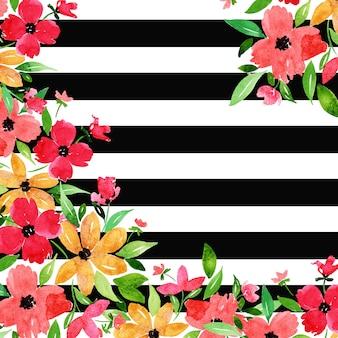 Streifen-hintergrund des schwarzweiss-aquarell-neuen jahres 2019
