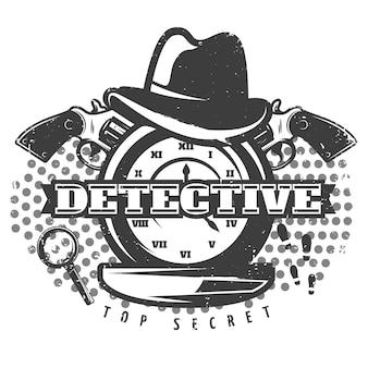 Streng geheimer detektivdruck