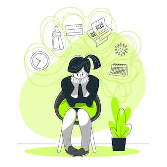 Stresskonzept illustration