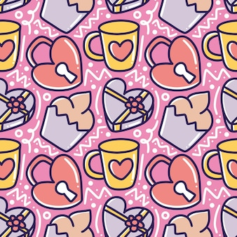 Strichgrafikbild der handzeichnung der valentinsliebesliebeskunst