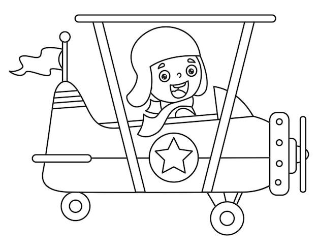 Strichzeichnungen für kinder malvorlagen Premium Vektoren