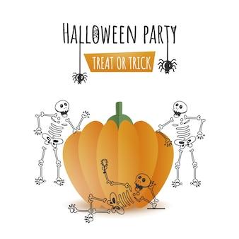 Strichzeichnungen illustration von skeletten, die genießen oder feiern
