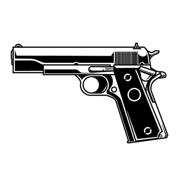 Strichzeichnungen vektorpistole 1911