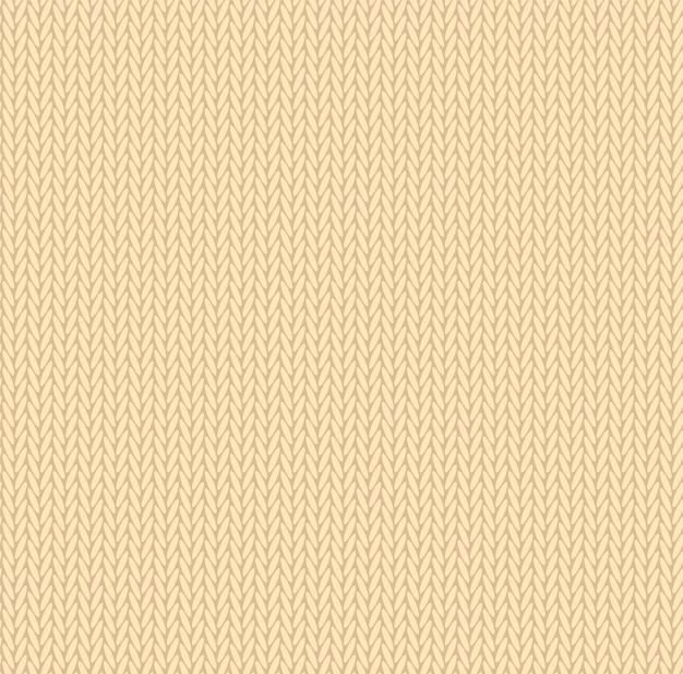 Strick textur gelbe farbe. vektor nahtlose muster stoff. strickendes flaches design des hintergrundes.
