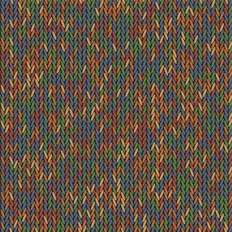 Strick textur melange farbe. strickendes flaches design des hintergrundes.