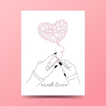 Stricken als symbol der liebe.