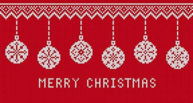 Stricken sie textur mit text der frohen weihnachten. vektor-illustration.