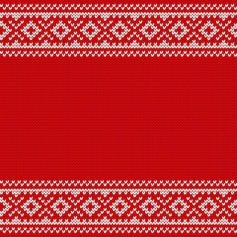 Strickendes weihnachtsnahtloses muster. gestrickte textur. illustration.