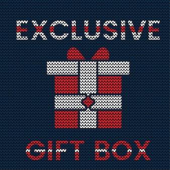 Strickmuster der exklusiven weihnachtsgeschenkbox