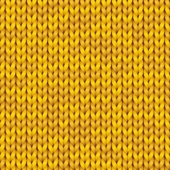 Strickmuster. gestrickter realistischer nahtloser hintergrund der gelben farbe. stricktextur für tapeten und hintergründe.