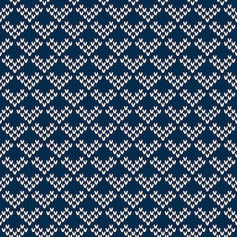 Strickpullover design. nahtloses muster