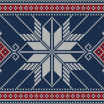 Strickpullover-muster der winterferien.