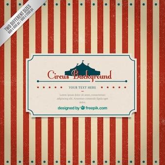 Striped zirkus hintergrund im retro-stil