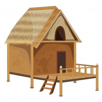 Strohhütte vektor-design