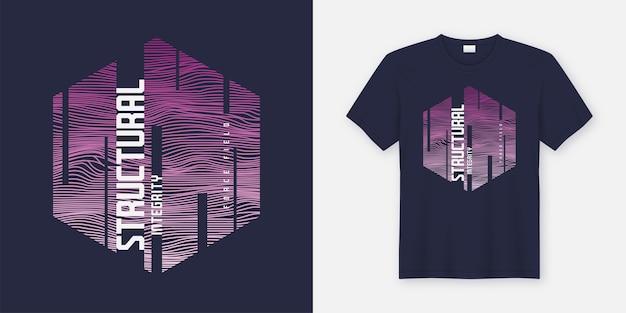 Strukturelle integrität abstraktes sci-fi-t-shirt und bekleidungsdesign