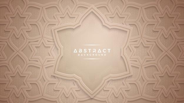 Strukturierter hintergrund des abstrakten gold papercut.