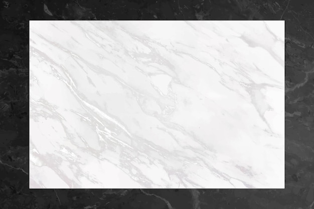 Strukturierter rahmen aus leerem marmor