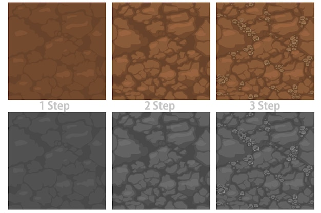 Strukturierter steinboden nahtlose muster eingestellt